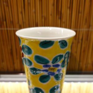 フリーカップ(花紋紅白)