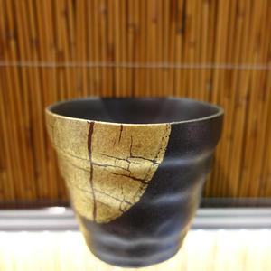 ロックカップ(金箔彩赤)