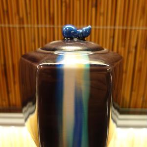 博峰窯六角香炉(彩釉)