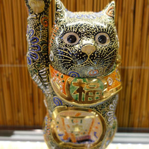 6G招き猫(黒盛宝船右手)