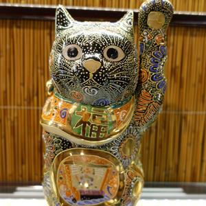 7G招き猫(黒盛左手)