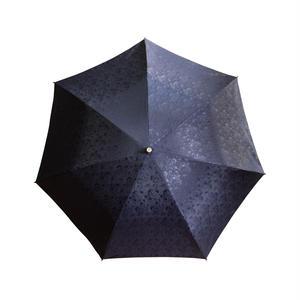 JACQUARDNOKASA ~ジャガードノカサ~ ネイビーローズ 折傘