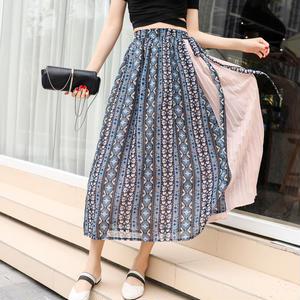 シフォンサイドプリーツスカート
