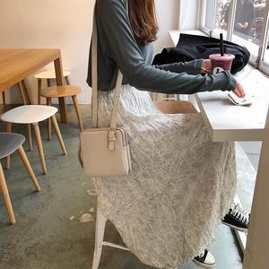 シフォンプリーツ小花柄スカート