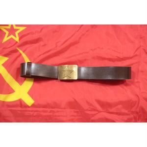 ソ連製 革製 金バックル ベルト 1988年製