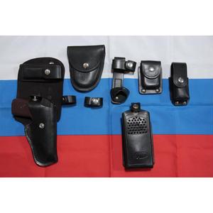ロシア製 旧ロット品 警察 革製 ベルト用 マカロフポーチ+バトンホルダー 予約品