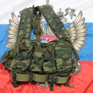 ロシア連邦軍 官給品 6sh92-5 ベスト バックパック 6sh92-5S用 フローラ迷彩  #2