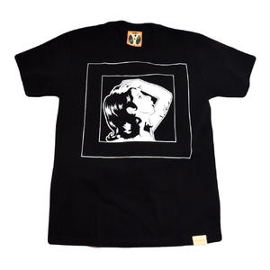 YELLMATIC S/S T-SHIRTS (LADY SKETCH) BLACK