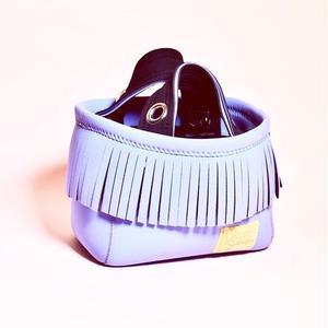 Lozz Sandra/fringe mini tote bag/all lavender eストラップ付き