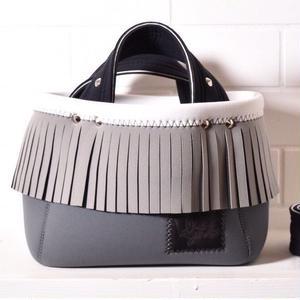 Lozz Sandra/fringe mini tote bag/L grey fringe