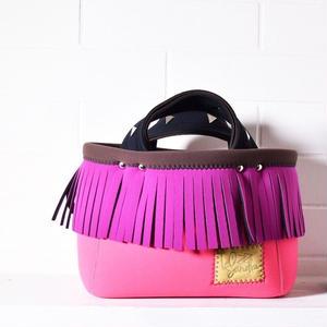 Lozz Sandra/fringe mini tote bag/Rouge fringe