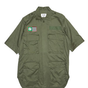 BOX POCKETS MILITARY  SHIRT (KHAKI)