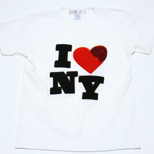 I ♡ NY CHENILLE TEE (WHITE)
