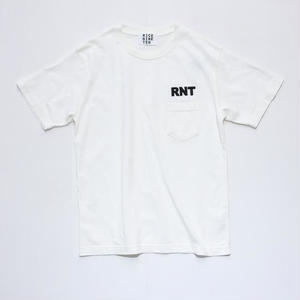 3D EMBROIDERY POCKET TEE   (VINTAGE OFF WHITE)