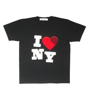 I ♡ NY CHENILLE TEE (BLACK)