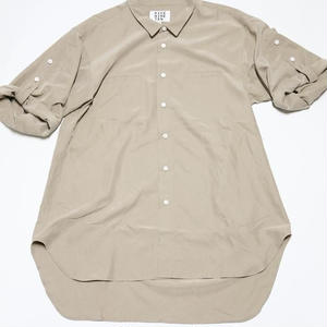 3/4 SLEEVE ROLL UP SHIRT (LIGHT BEIGE)
