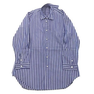 MULTI STRIPE ODD OVER SHIRT (BLUE)
