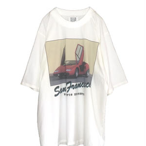 SUPER CAR OVER SLEEVE TEE  (WHITE)