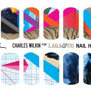 展開終了LAQA&CO ネイルハグズ(ネイルシール)CHARLES WILKIN LQA22-4