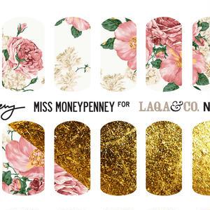 LAQA&CO ネイルハグズ(ネイルシール)MISS MONEYPENNEY LQA22-2