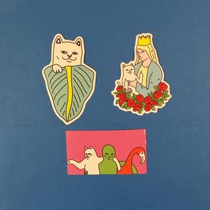 猫 ねこ 3枚セット ステッカー シール cat sticker ④