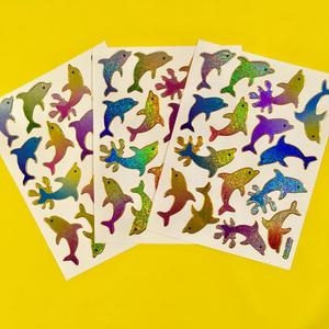 イルカ キラキラ シール 3枚セット dolphin stickers