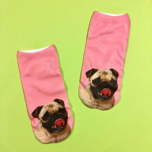 パグ 靴下 女性用 ピンク PUG SOCKS