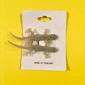 ヤモリ ヘアクリップ アクセサリー 2個セット Gecko Hair clip