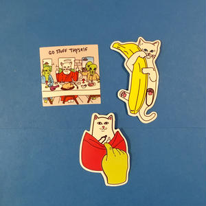 猫 ねこ 3枚セット ステッカー シール cat sticker ⑥