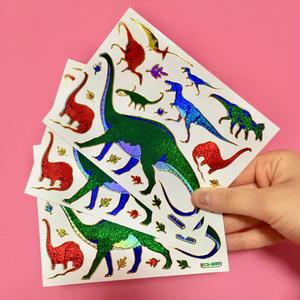 恐竜  シール キラキラ 3枚セット ④  DINOSAUR STICKER