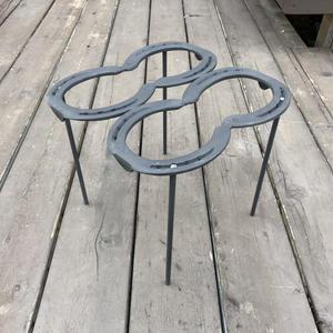 蹄鉄トリベット  脚付  4点支持  耐熱塗装