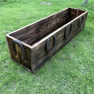 蹄鉄 木製プランター