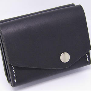ブラックレザー 手のひら財布