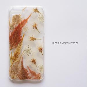押し花iPhoneケース0910_5 Celosia cristata