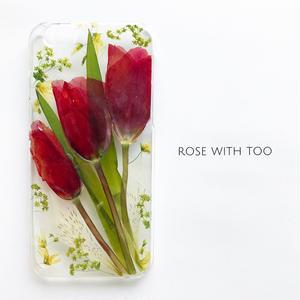 【再販】押し花iPhoneケース 0514_5 Tulip