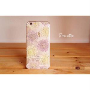 押し花iPhoneケース5/5s/SE用 Lace Flower