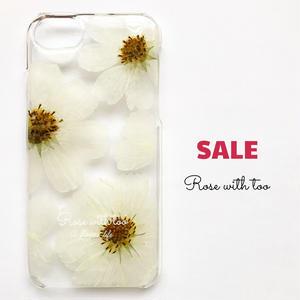 押し花iPhoneケース7/6/6s用 Cosmos (white)