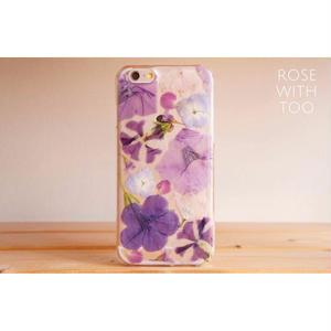 iPhone6/6s用 フラワーアートケース 押し花デザイン 0828_2