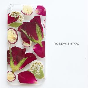 押し花iPhoneケース 0716_6 rose