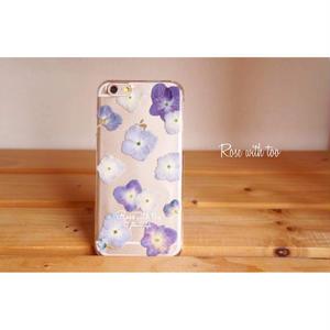 【再販】押し花iPhoneケース6/6s用  Hydrangea