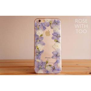 iPhone6/6s用 フラワーアートケース 押し花デザイン 0821_5