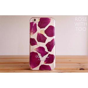 iPhone6/6s用 フラワーアートケース 押し花デザイン 0811_4