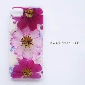 【再販】押し花iPhoneケース0910_1 cosmos1