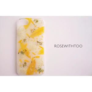 押し花iPhoneケース6/6s/7用(sunflower)