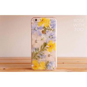 iPhone6/6s用 フラワーアートケース 押し花デザイン 0811_6