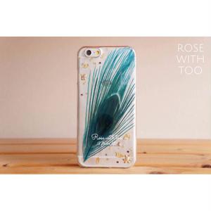 peacock iPhoneケース6/6s用 blue 0811_1