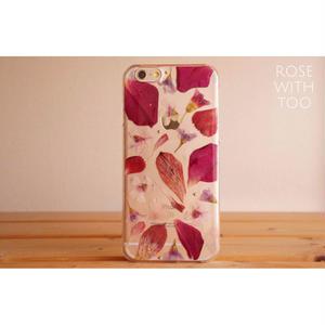 iPhone6/6s用 フラワーアートケース 押し花デザイン 0821_3