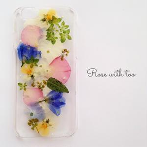 iPhone6/6s用 フラワーアートケース 押し花デザイン 0626_10