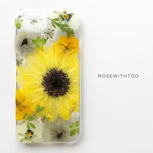 押し花iPhoneケース 0702_5 Sun flower