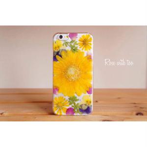 iPhone5/5s/SE用 フラワーアートケース 押し花デザイン 0715_8